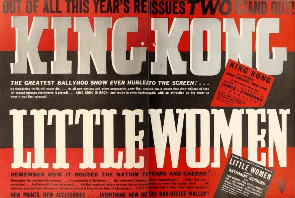 King Kong and Little Women Advertisement